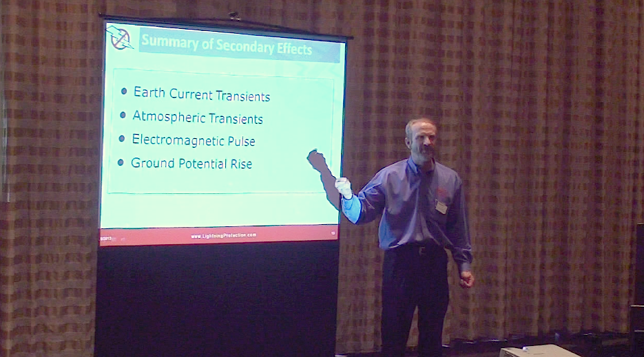 Peter Carpenter of LEC at the Lightning Protection Summit