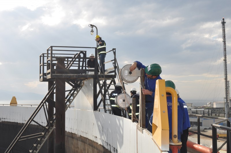 Installing RGA Lightning Protection at Turpas in Izmit, Turkey