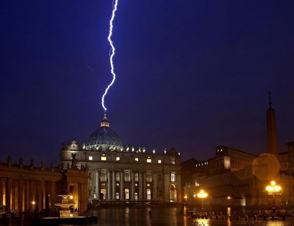 Act of God, Lightning Strikes Vatican, Lightning Prevention, Mother Nature, Natural Disaster, Lightning Protection