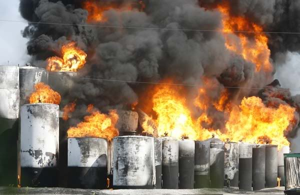 Oil tank fire, lightning strikes tanks, Tank Fire, Lightning Protection