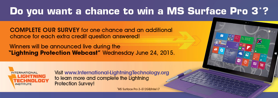 Lightning Protection: Take the Survey and you could win big!