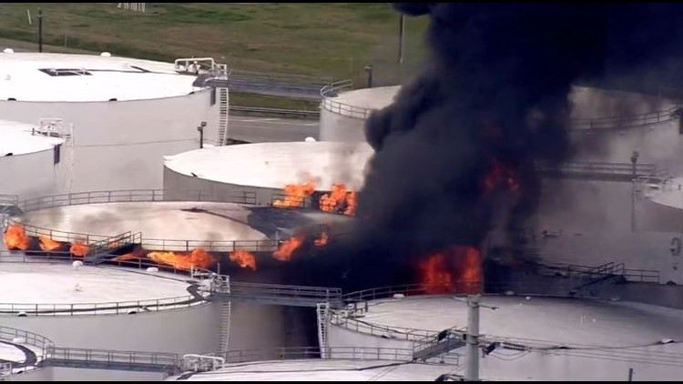 Combating tank battery fires in West Texas
